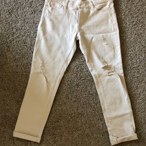 GAP off white ripped jeans